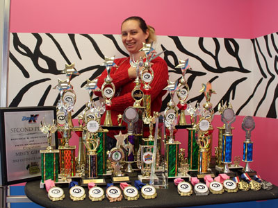 Misty Gieczys with competition awards