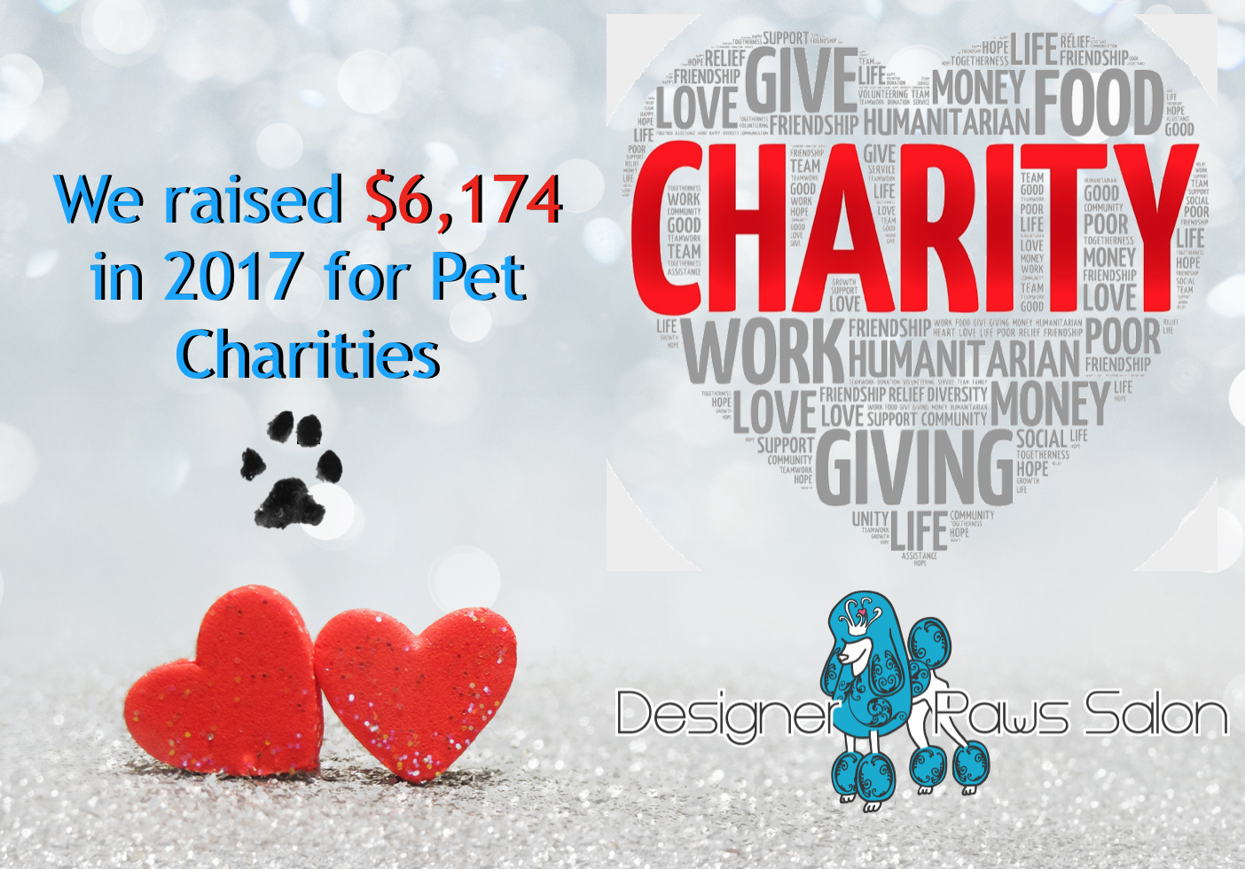 2017 charity total $6,174.